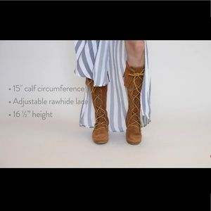Free People Minnetonka Front Lace Knee High Boot